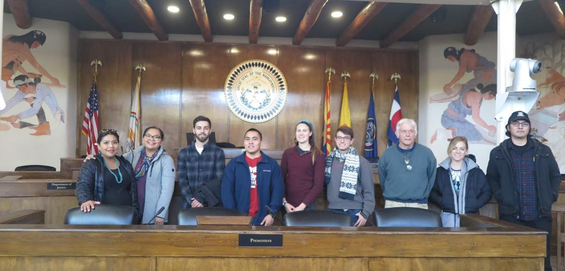 Students at Council Chambers